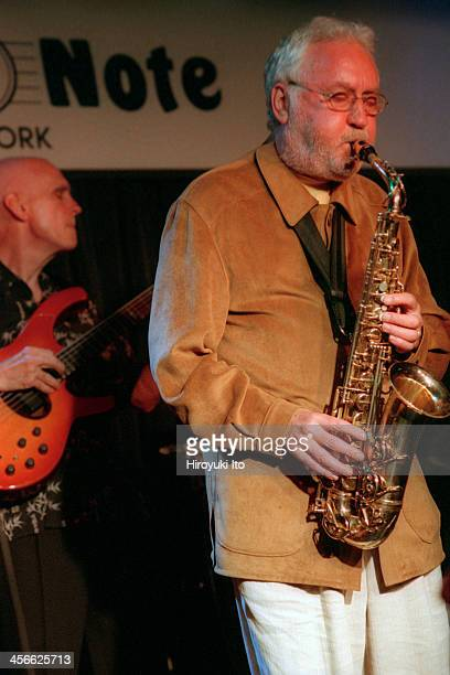 Lee Konitz Trio performing at the Blue Note on Tuesday night September 12 2000This imageSteve Swallow left and Lee Konitz