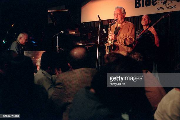 Lee Konitz Trio performing at the Blue Note on Tuesday night September 12 2000This imageFrom left Paul Bley Lee Konitz and Steve Swallow