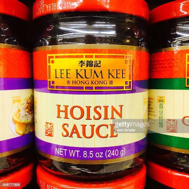 Lee Kum Kee Hoisin Sauce in jars prepared Chinese sweet plum sauce