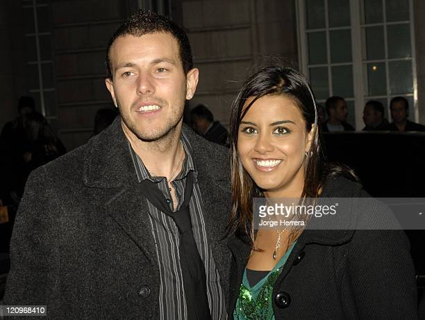Lee Latchford Evans and Poojah Shah during Terry Pratchett's Hogfather TV Premiere Outside Arrivals at Curzon Mayfair in London Great Britain