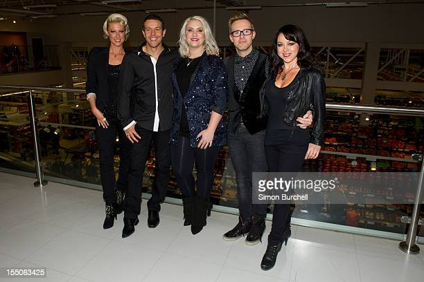 Lee Latchford Evans Claire Richards Faye Tozer and Ian H Watkins and Lisa Scott Lee of Steps attend a Guinness world record attempt for the largest...
