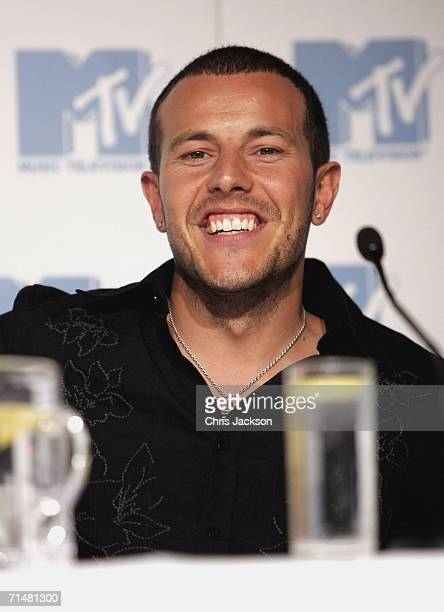 Lee Latchford Evans, member of the New MTV program 'Totally Boyband', talks at an MTV press conference to introduce the new band, July 19, 2006 in...