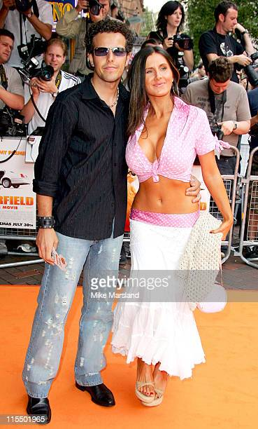 """Lee Latchford Evans with guest during The UK Charity Premiere Of """"Garfield the Movie"""" - Arrivals at Liecester Square Vue Cinema in London, Great..."""