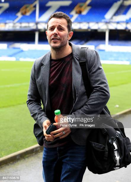 Lee LatchfordEvans arrives for the Bradley Lowery charity match at Goodison Park Liverpool PRESS ASSOCIATION Photo Picture date Sunday September 3...