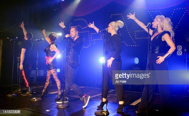 Lee LatchfordEvans Lisa ScottLee Ian 'H' Watkins Claire Richards and Faye Tozer of Steps perform at GAY on March 17 2012 in London England