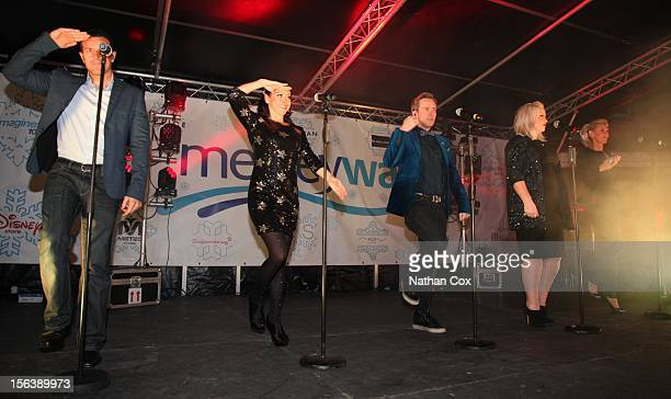 Lee LatchfordEvans Lisa ScottLee Ian 'H' Watkins Claire Richards and Faye Tozer performs as the Christmas lights are switched on at Mersey Way...