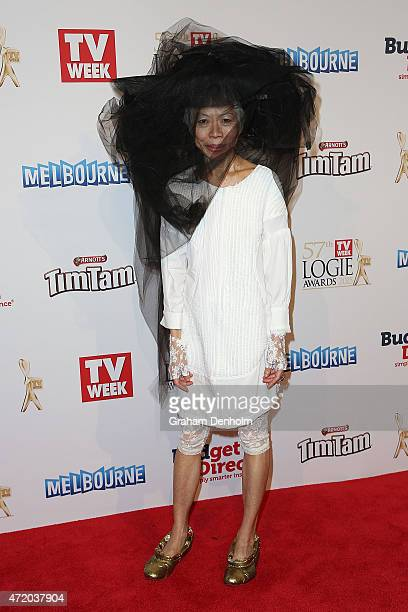 Lee Lin Chin arrives at the 57th Annual Logie Awards at Crown Palladium on May 3 2015 in Melbourne Australia