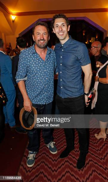 """Lee Mack and Blake Harrison attend as a new cast debuts in """"Waitress: The Musical"""" at The Adelphi Theatre on July 02, 2019 in London, England."""