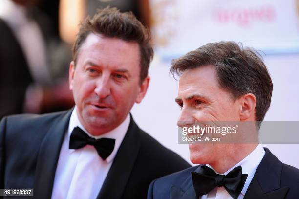 Lee Mack and Rob Brydon attend the Arqiva British Academy Television Awards at Theatre Royal on May 18 2014 in London England