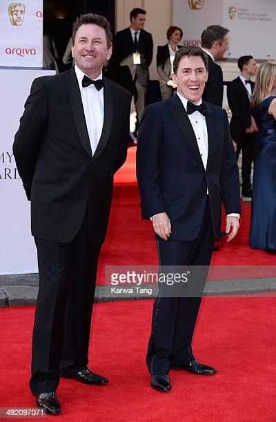 Lee Mack and Rob Brydon attend the Arqiva British Academy Television Awards held at the Theatre Royal on May 18 2014 in London England