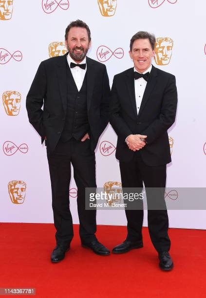 Lee Mack and Rob Brydon attend the Virgin Media British Academy Television Awards at The Royal Festival Hall on May 12, 2019 in London, England.