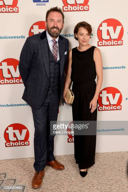 Lee Mack and Tara McKillop attend the TV Choice Awards at The Dorchester on September 10 2018 in London England