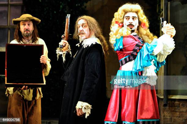 Lee Mack as Maitre Jacques Griff Rhys Jones as Harpagon and Ryan Gage as Cleante in Sean Foley and Phil Porter's adaptation of Molliere's The Miser...