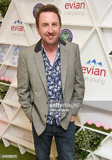 Lee Mack attends the evian Live Young suite during Wimbledon 2016 at the All England Tennis and Croquet Club on June 27 2016 in London England