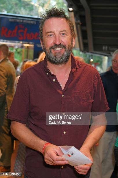 """Lee Mack attends the press night performance of """"Matthew Bourne's Romeo And Juliet"""" at Sadler's Wells Theatre on August 11, 2019 in London, England."""