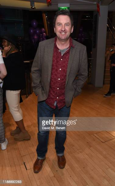 """Lee Mack attends the press night performance of Matthew Bourne's """"The Red Shoes"""" at Sadler's Wells Theatre on December 15, 2019 in London, England."""