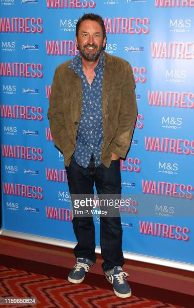 """Lee Mack attends the """"Waitress"""" media night at Adelphi Theatre on July 02, 2019 in London, England."""