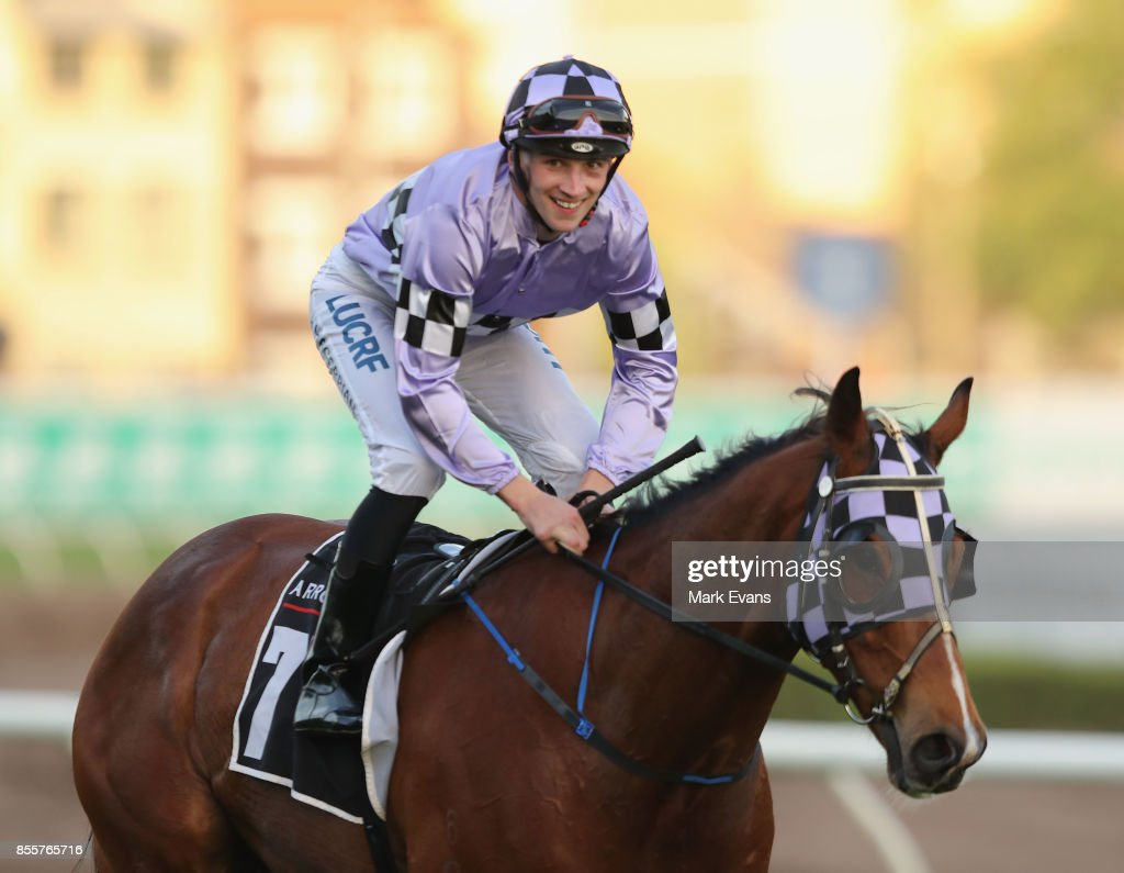 Lee Magorrian on Isorich returns to scale after winning race 9 during Sydney Racing at Royal Randwick Racecourse on September 30, 2017 in Sydney, Australia.