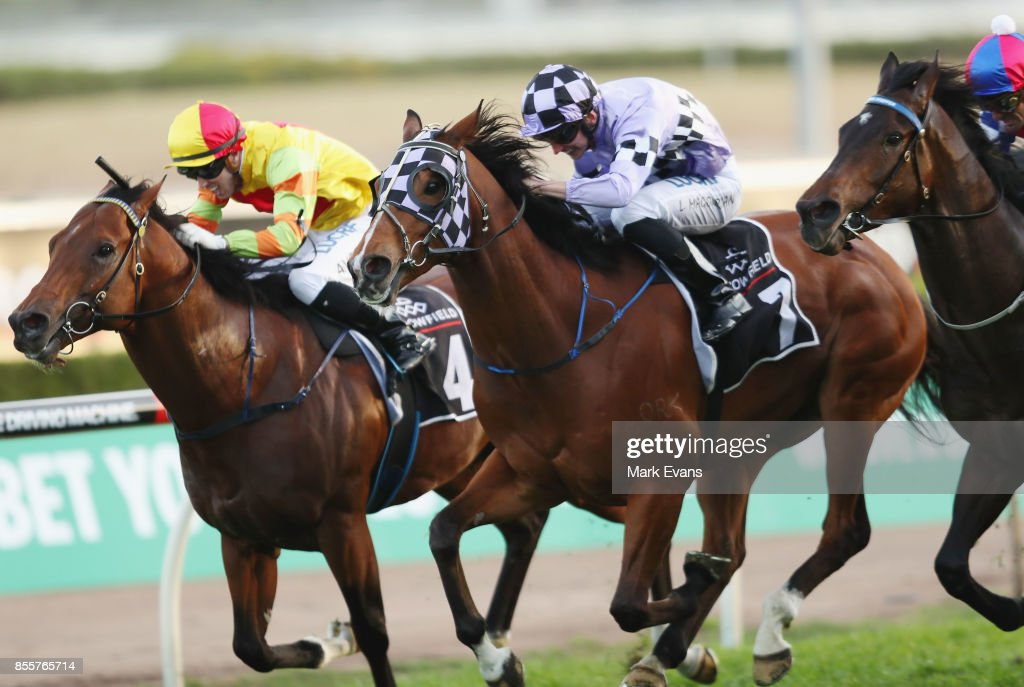 Lee Magorrian on Isorich wins race 9 during Sydney Racing at Royal Randwick Racecourse on September 30, 2017 in Sydney, Australia.