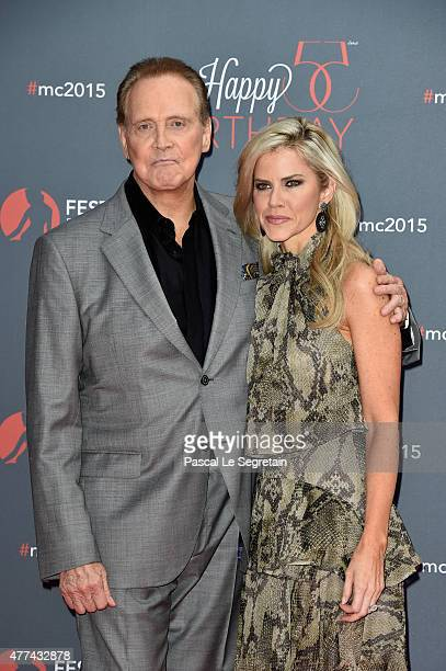 Lee Majors and Faith Majors attend the 55th Monte Carlo Beach anniversary as part of the 55th Monte Carlo TV Festival Day 4 on June 16 2015 in...