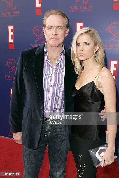 Lee Majors and guest during 2005 Taurus World Stunt Awards - Red Carpet at Paramount Studios in Los Angeles, California, United States.