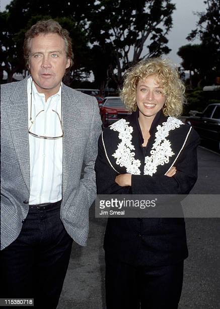 Lee Majors and Virginia Madsen during Grand Opening of La Scala Restaurant at La Scala Restaurant in Malibu California United States