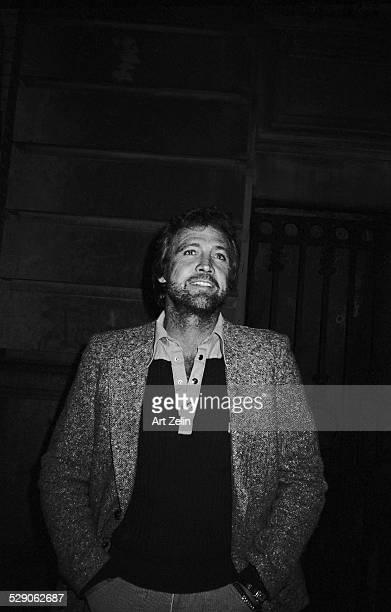 Lee Majors bearded wearing tweed jacket circa 1960 New York