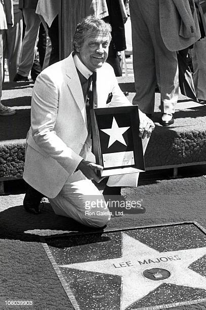 Lee Majors during Lee Majors Receieves Hollywood Walk of Fame Star September 14 1984 at Hollywood Boulevard in Hollywood California United States
