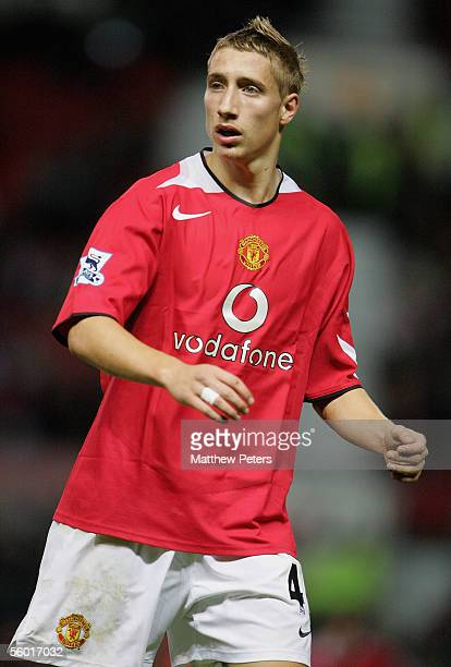 Lee Martin of Manchester United in action during the Carling Cup third round match between Manchester United and Barnet at Old Trafford on October 26...