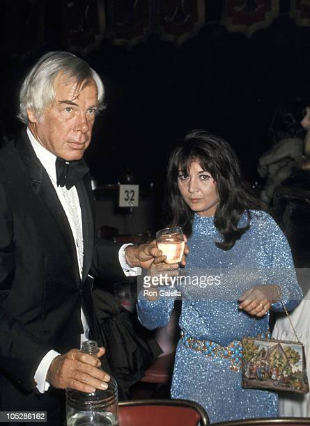 Lee Marvin and Michelle Triola during 27th Annual Golden Globe Awards at Ambassador Hotel in Los Angeles California United States