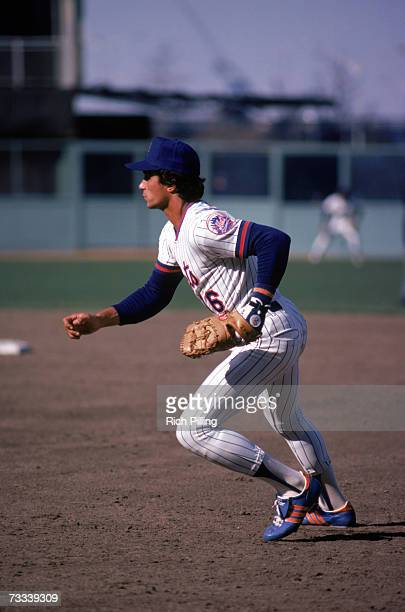 Lee Mazzilli of the New York Mets fields his position during a game in 1980 at Shea Stadium in Flushing Queens New York Mazzilli played for the Mets...