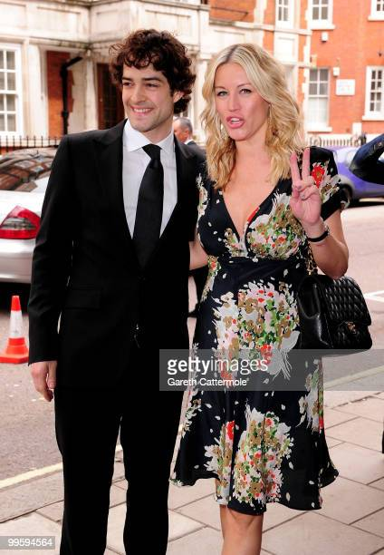 Lee Mead and Denise van Outen attend the wedding of David Walliams and Lara Stone at Claridge's Hotel on May 16 2010 in London England