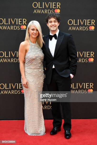 Lee Mead and guest attend The Olivier Awards with Mastercard at Royal Albert Hall on April 8 2018 in London England