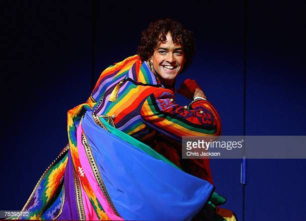Lee Mead performs during a photocall for Joseph And The Amazing Technicolor Dreamcoat at the Adelphi Theatre on July 13 2007 in London England