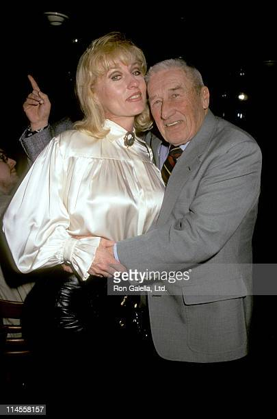 Lee Meredith and Mickey Spillane during Tekno Comix SciFi Stars Party at Planet Hollywood in New York City New York United States