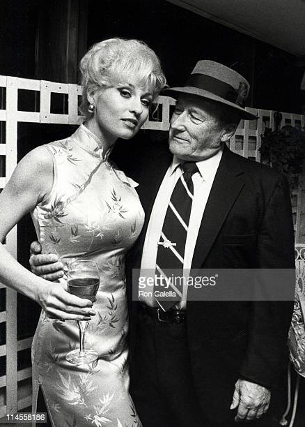 Lee Meredith and Mickey Spillane during Wrap Party for the Film 'Murder Me Murder You' at Ma Maison Restaurant in Beverly Hills California United...