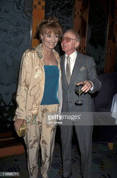 Lee Meriwether and Red Buttons during Party For Ivana Trump Hosted By Nikki Haskell at Spago's in West Hollywood California United States
