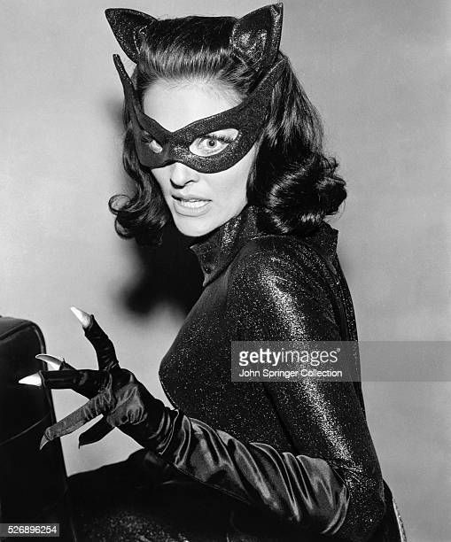 Lee Meriwether dressed as the Catwoman from the original 1966 movie Batman