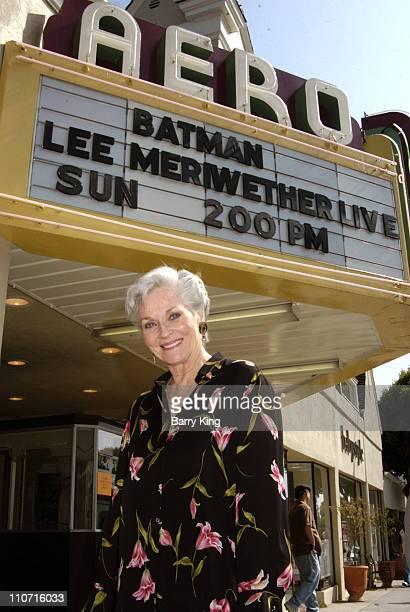 Lee Meriwether during Lee Meriwether Appears at Batman Screening at Aero Theatre June 12 2005 at Aero Theatre in Santa Monica California United States