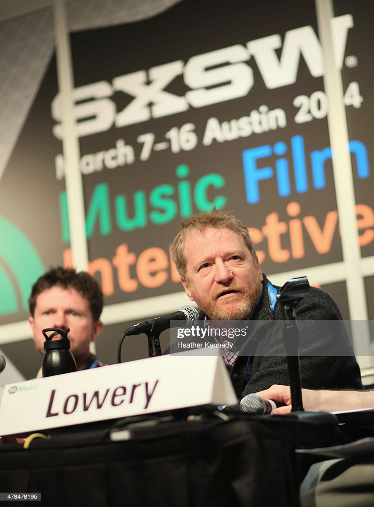 Lee Miller, President of the Nashville Songwriters Association International (R) speaks onstage at 'Love the Art, Fuck the Artist: The Re-emerging Artist Rights Movement?' during the 2014 SXSW Music, Film + Interactive at Austin Convention Center on March 13, 2014 in Austin, Texas.