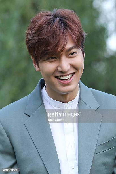 Lee MinHo poses for photographs during the Innisfree 'Play Green Festival 2015' at Yongsan Family Park on September 12 2015 in Seoul South Korea