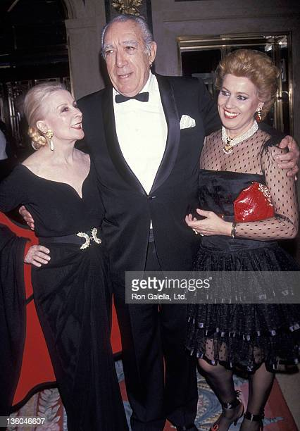 Lee Minnelli actor Anthony Quinn and wife Jolanda Addolori attend the National Italian American Foundation's Gala to Inaugurate the Vincente Minnelli...