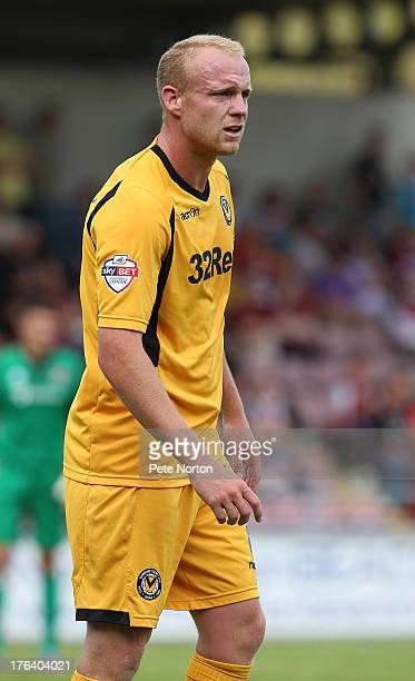 Lee Minshull of Newport County AFC in action during the Sky Bet League Two match between Northampton Town and Newport County AFC at Sixfields Stadium...