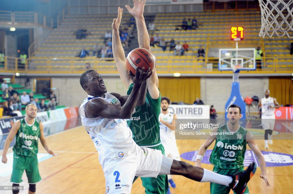 Lee Moore of Leonessa Germani Bresciain action during the basketball Roberto Ferrari Trophy at PalaGeorge on September 22, 2017 in Montichiari, Italy.