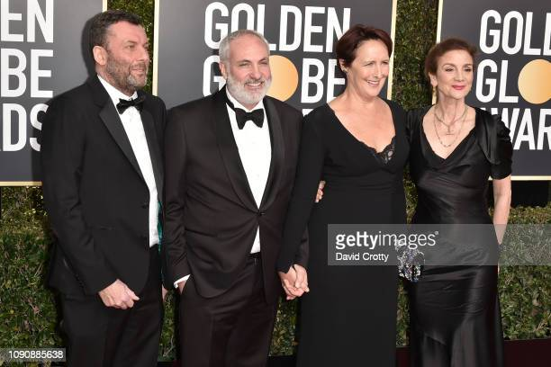 Lee Morris, Kim Bodnia, Fiona Shaw and Sally Woodward Gentle attend the 76th Annual Golden Globe Awards at The Beverly Hilton Hotel on January 06,...