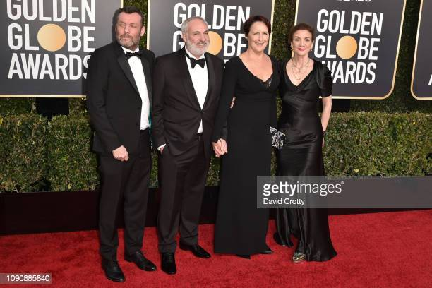 Lee Morris Kim Bodnia Fiona Shaw and Sally Woodward Gentle attend the 76th Annual Golden Globe Awards at The Beverly Hilton Hotel on January 06 2019...