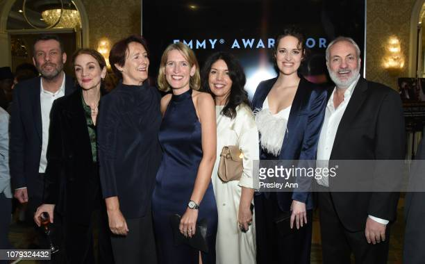 Lee Morris Sally Woodward Gentle Fiona Shaw Guest Sarah Barnett Phoebe WallerBridge and Kim Bodnia attend The BAFTA Los Angeles Tea Party at Four...