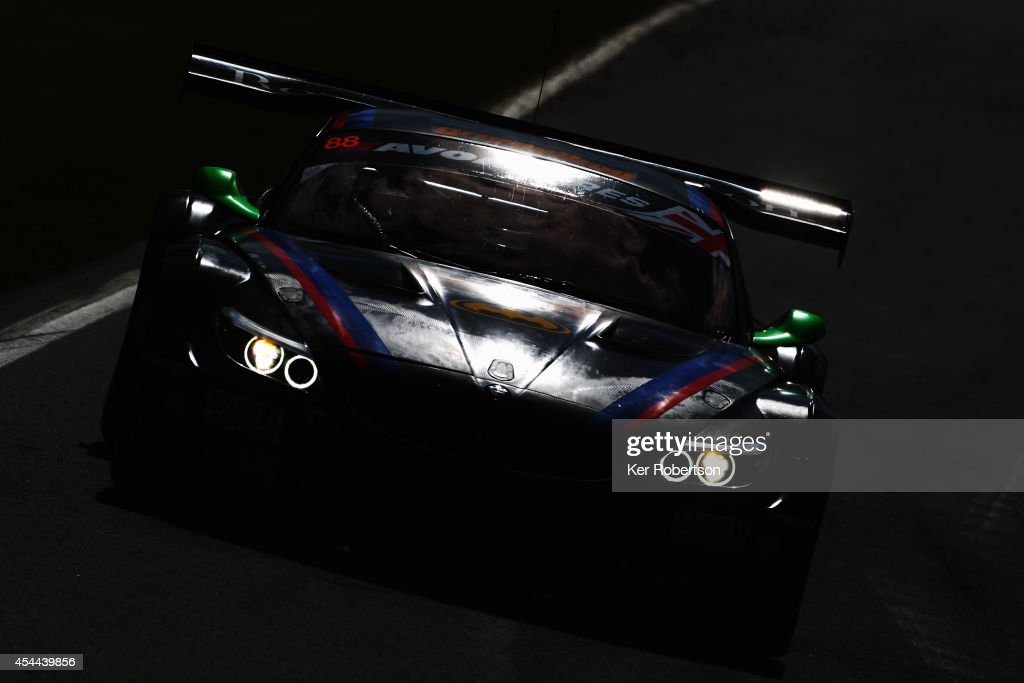 Lee Mowle drives his Triple 8 BMW Z4 GT3 during the Avon Tyres British GT Championship race at Brands Hatch on August 31, 2014 in Longfield, England.