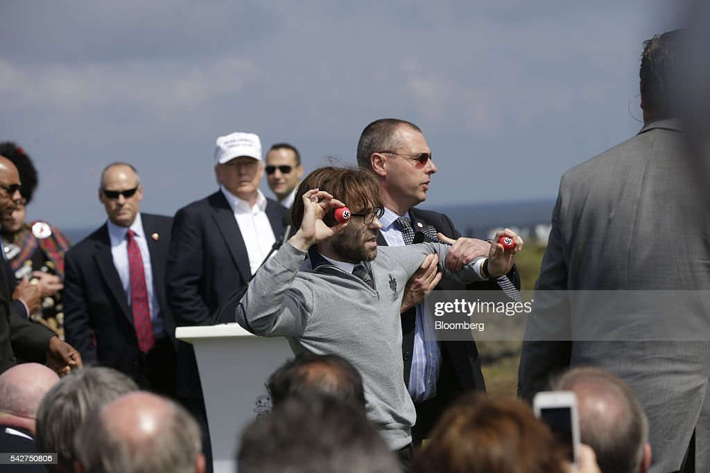 Presumptive Republican Presidential Nominee Donald Trump Re-Opens  Trump Turnberry Golf Course And Hotel Following Refurbishment : News Photo