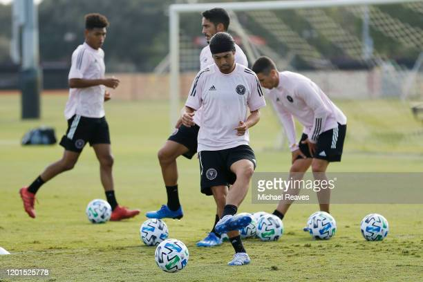 Lee Nguyen of Inter Miami CF dribbles during a training session at Barry University on January 23 2020 in Miami Florida